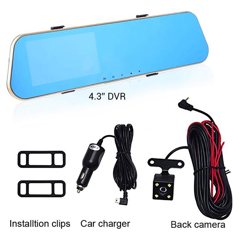 4.1 pouces LCD IPS double lentille voiture Dash Cam FHD 1080 P tableau de bord caméra 170 degrés conduite DVR tachygraphe Conducir grabadora