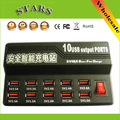 Teléfono móvil inteligente multi-puerto USB cargador de pared de 10 Puertos 5 V/12A adaptador de corriente usb cargador rápido para iphone ipad ipod itouch samsung