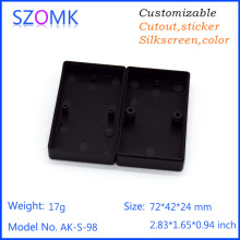 one piece szomk good material  72*42*24mm Case Two Screw electronics enclosure Small Junction Box Plastic Material Mini size
