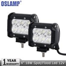 Oslamp 4 «18 Вт светодиодный свет работы 12 В 24 В пятно луч светодиодный работы лампы дальнего света светодиодный Бар Offroad 4×4 грузовики 4WD ATV внедорожник лодка