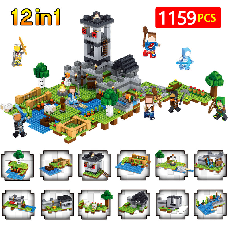 12 in1 Minecrafte Village Building Blocks Castle Bricks Compatible LegoINGLYS Minecrafted Fortress Toys For Children Gift socio economic factors governing agricultural innovations in a village