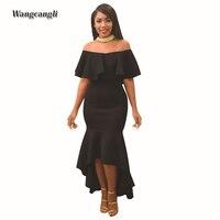 Wangcangli 2018 Fashion Summer Women S Sexy Solid Ruffled Sleeveless Europe And America Style Printing Pencil