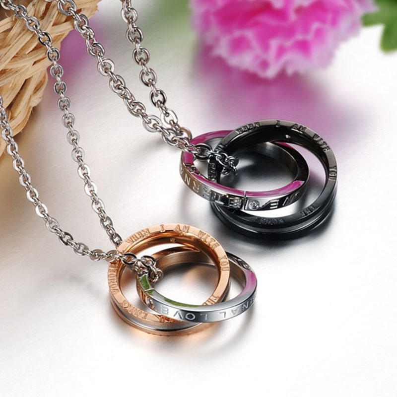 Fashion Romantic Jewelry font b Cross b font Pendant stainless Steel Couple Necklaces Pendants Women Men