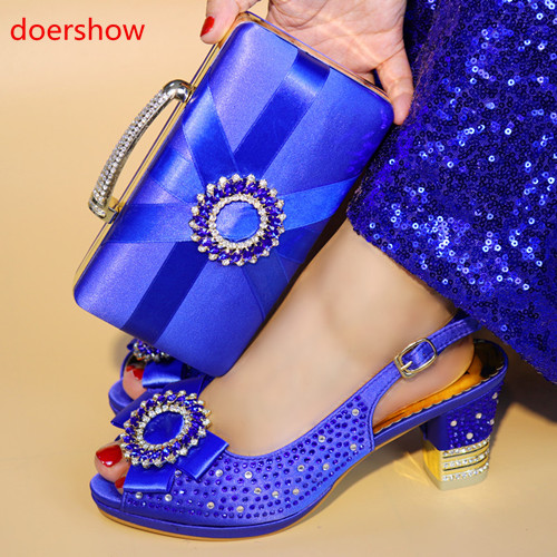 doershow Fashion African Shoe And Bag Set For Party Italian Shoe With Matching Bag New Design Shoes And Bag Set G4-26 doershow italian shoe with matching bag fashion lattice pattern italy shoe and bag to match african women shoes party hjj1 34