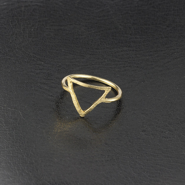 Open Triangle Midi Ring