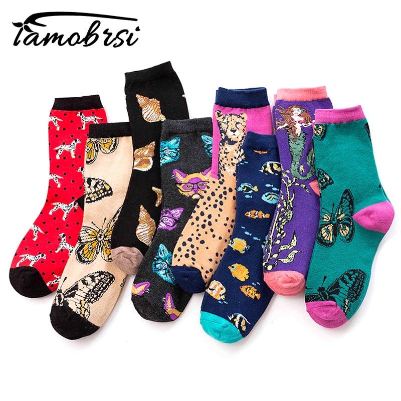Street Cartoon Creativity Pattern Leopard Beagle Cat Animal Crazy Cotton Funny Women Casual Socks Men Novelty Happy Short Socks