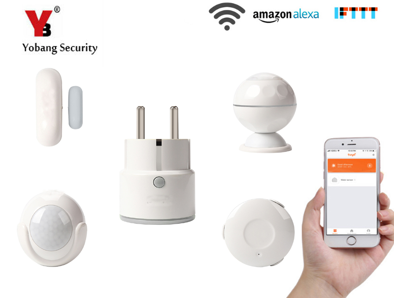 Sensor & Detektor Sicherheitsalarm Unter Der Voraussetzung Yobang Sicherheit-wifi Sensoren Alarm Kits Option Smart Eu Steckdose Wasser Leck Erkennung Pir Motion Sensor Fenster Tür Sensor Kaufe Jetzt