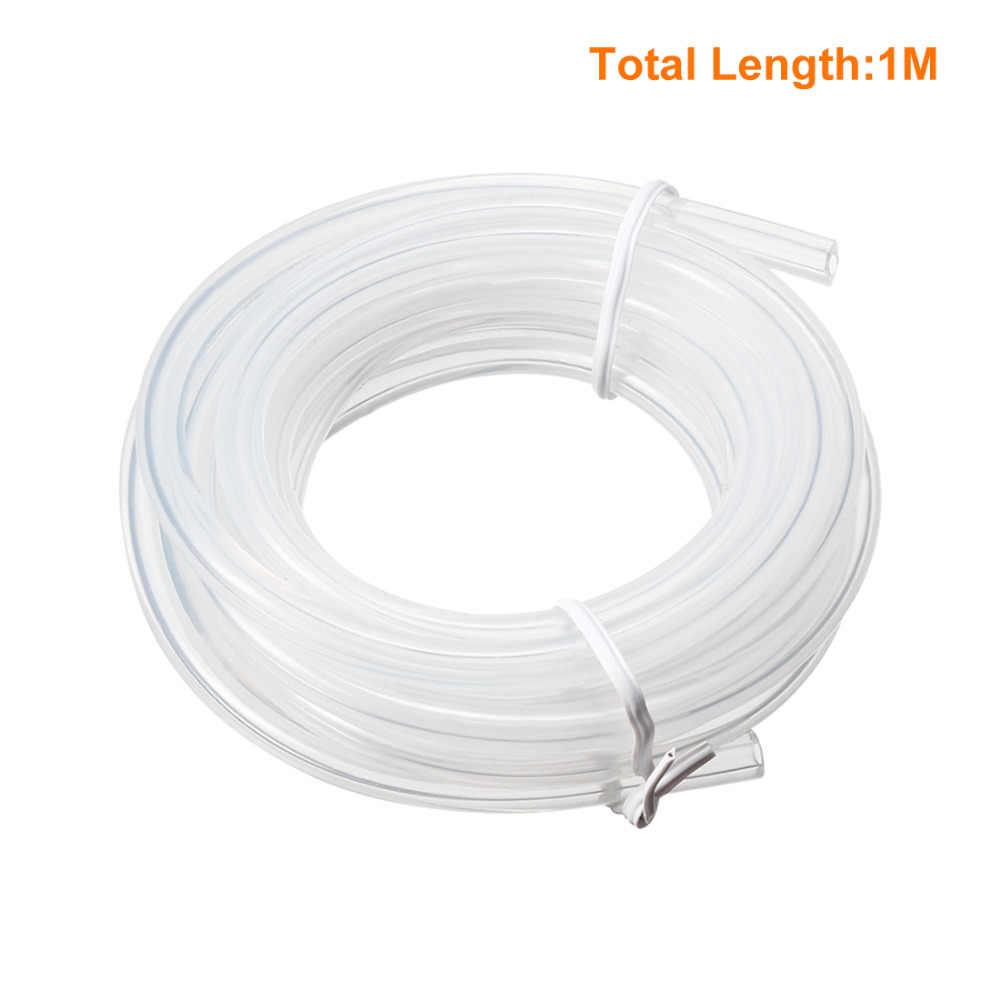 UXCELL wysokiej jakości 2x5mm przezroczyste silikonowe przezroczyste rury wody powietrza wąż do pompy rury wąż do domu 1 M o długości 2 M