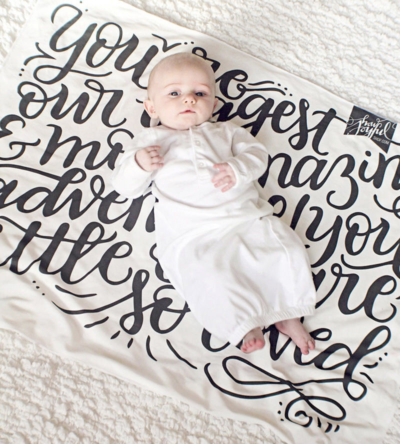 Infant Baby Kids Graffiti Sleep Blanket Cotton Soft Swaddling For 0 24 Months Newborn Baby