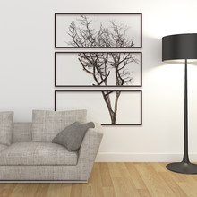 DIY Photo Frame Tree Wall Sticker Home Decor Living Room Bedroom Wall Decals Poster Home Decoration Wallpaper(China)