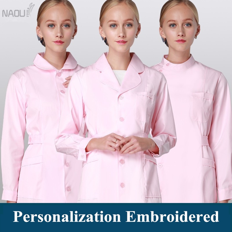 Nurse Uniforms Long Robe For Women Winter Medical Scrub Jacket Full Length Poly Cotton SPA Beautician Veterinary Work Wear