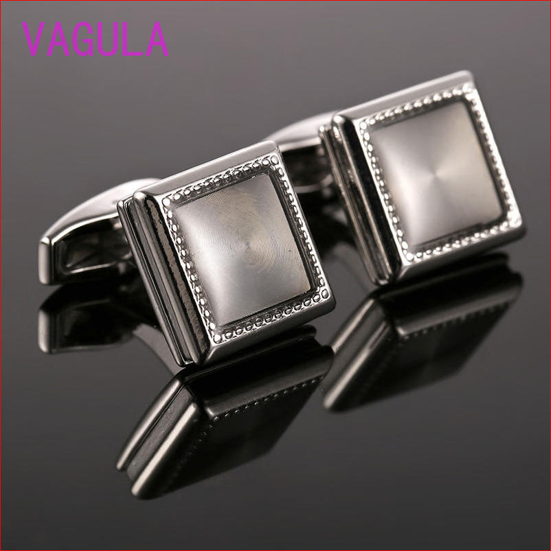 The Cheapest Price 2017 High Quality Elliptical Square Engraved Notes Cufflink Drop Glue Classical French Shirt Cuff Link For Men 51410 Jewelry & Accessories Tie Clips & Cufflinks