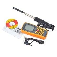 Ветер скорость потока тестер ЖК-дисплей экран цифровой портативный горячие провода Анемометр 0~ 30 м/с Air температура метр 0~ 45 Цельсия