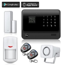 Wireless GSM WIFI Home Security Alarm System G90B Android IOS APP Control Magnetic Door/PIR Alarm Sensor