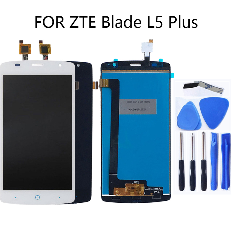 """5.0"""" for zte blade L5 plus LCD liquid crystal display touch screen digitizer L5 plus display mobile phone repair parts + tools-in Mobile Phone LCD Screens from Cellphones & Telecommunications"""