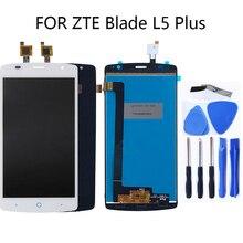 """5.0 """"ل zte blade L5 زائد LCD الكريستال السائل عرض تعمل باللمس محول الأرقام L5 زائد عرض الهاتف المحمول إصلاح أجزاء + أدوات"""