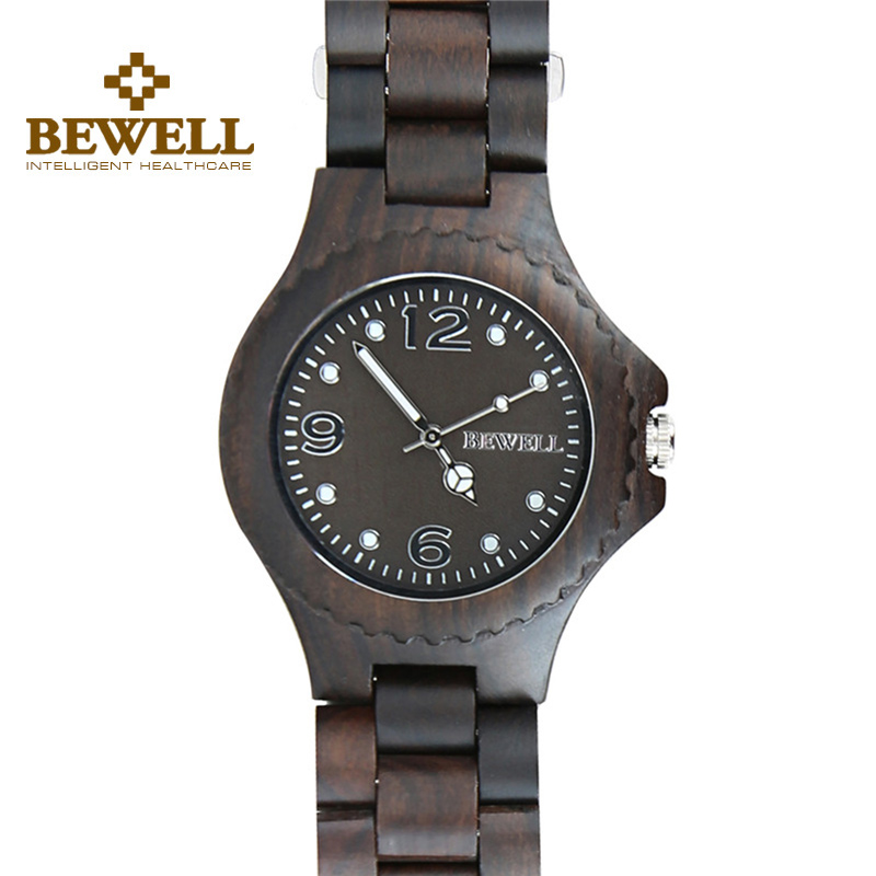 Подробнее о BEWELL Ebony Wood Watch Men Women Natural Wooden Band Japanese Quartz Wristwatch Casual Male Female Watches 038A 2016 hot sell men dress watch uwood men s wooden wristwatch quartz wood watch men natural wood watches for men women best gifts