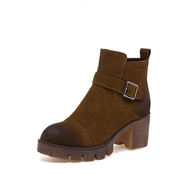 2017 winter retro rough Martin boots naked women's fashion leather boots boots sexy comfortable night travel