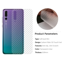 2pcs /3D Carbon Fiber Protective Back Film UMIDIGI S3 Pro /UMIDIGI F1 Play/Fly Power Plus 5000/Fly View Max/Jinga Hit 4G Neon смартфон fly fs521 power plus 1 золотистый