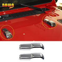 BAWA Car Engine Hood Hinge Cover Protection for Jeep Wrangler JL 2018 ABS Car Stickers Decoration