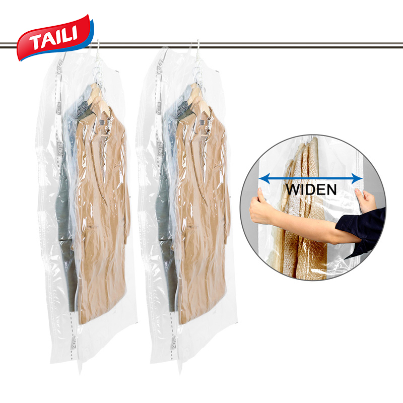 Hanging Vacuum Bag for Clothes Cubes Hanging Vacuum Storage Bag Compression Bags for Packing Save Wardrobe Space