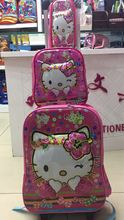 Kids Rolling Bag 3D EVA girl's Boy's trolley Bags For School Cartoon Children's Travel luggage Wheeled Backpack in School