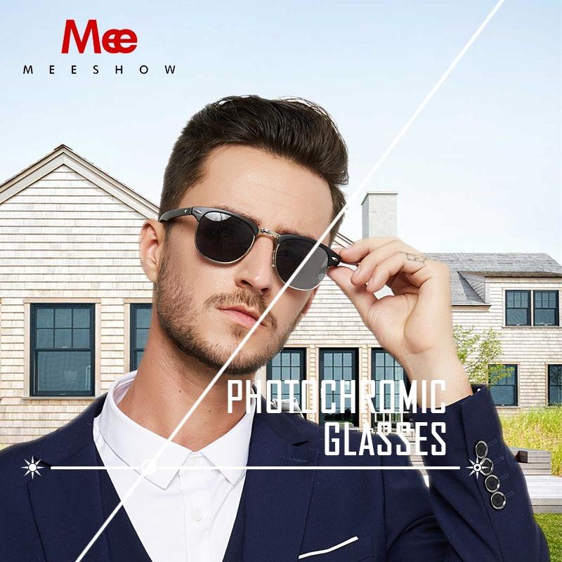 MEESHOW reading Glasses frame men women photochromic sunglasses glasses eyeglases  UV400 844 +1.0 +0.5