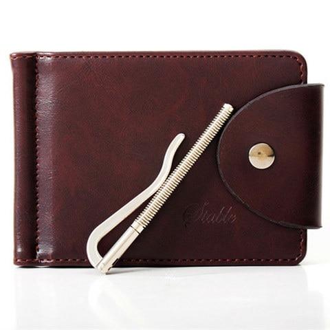 Mens Genuine Leather Wallet Thin Mini Pocket Jeans Men Wallets Brand Designer Money Clip Male Money Purse Carteira Masculina Pakistan