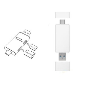 Image 1 - 100MB/s For Huawei NM Nano Memory Card Reader Micro SD Type C USB A 2 in1 Card Reader For Mate 20 Pro With USB 3.1 Gen 1