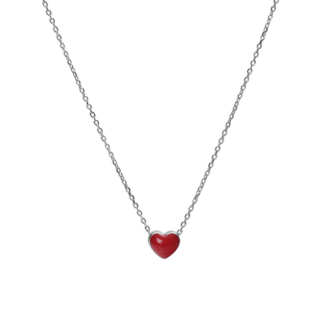 Silver Red Heart Pendant...