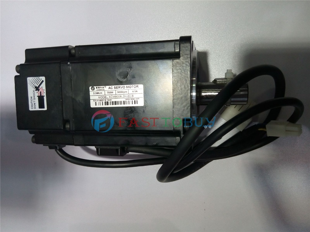 CNC NEMA32 750W AC Servo Motor Drive Kits System 220V 3000R/Min 4.5A 2.4NM 2500line Flange 80mm with 3M Cable Leadshine New leadshine cnc servo motor 200w nema24 60mm acm6002l2h a0 b l5 400 220v ac servo motor drive 0 64nm 3000r min 1 5a with 3m cable