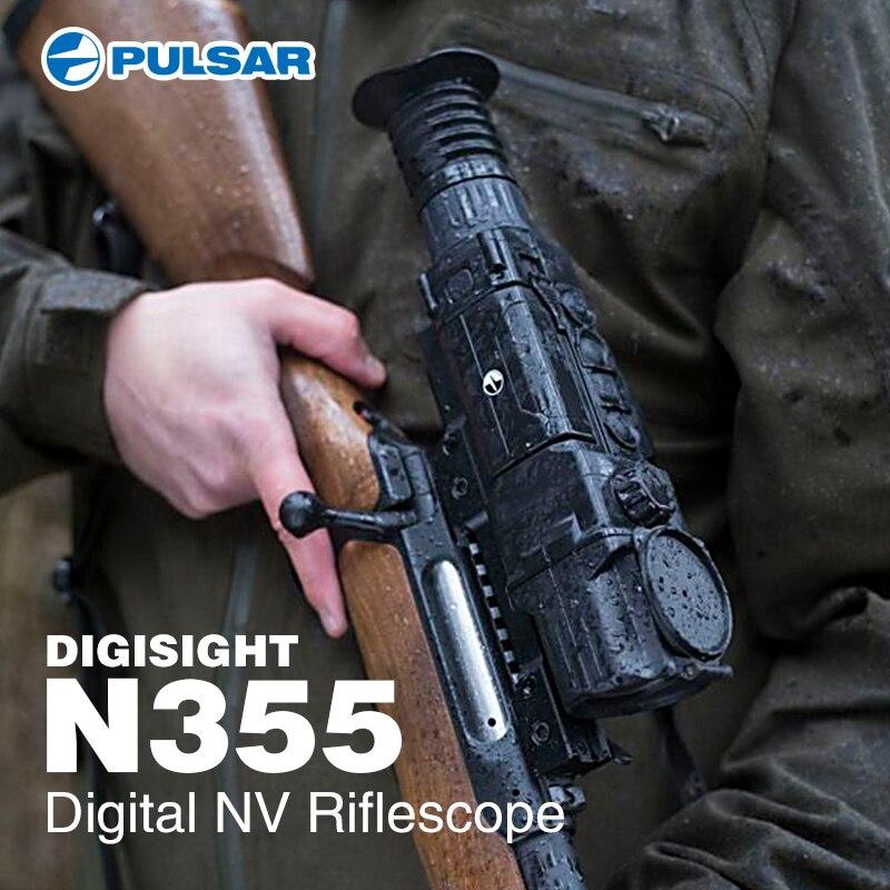 Pulsar Digisight Ultra N355 Digital Night Vision Riflescope Red Dot Hunting Scopes Miras Telescopicas Caza Trijicon Sight Luneta