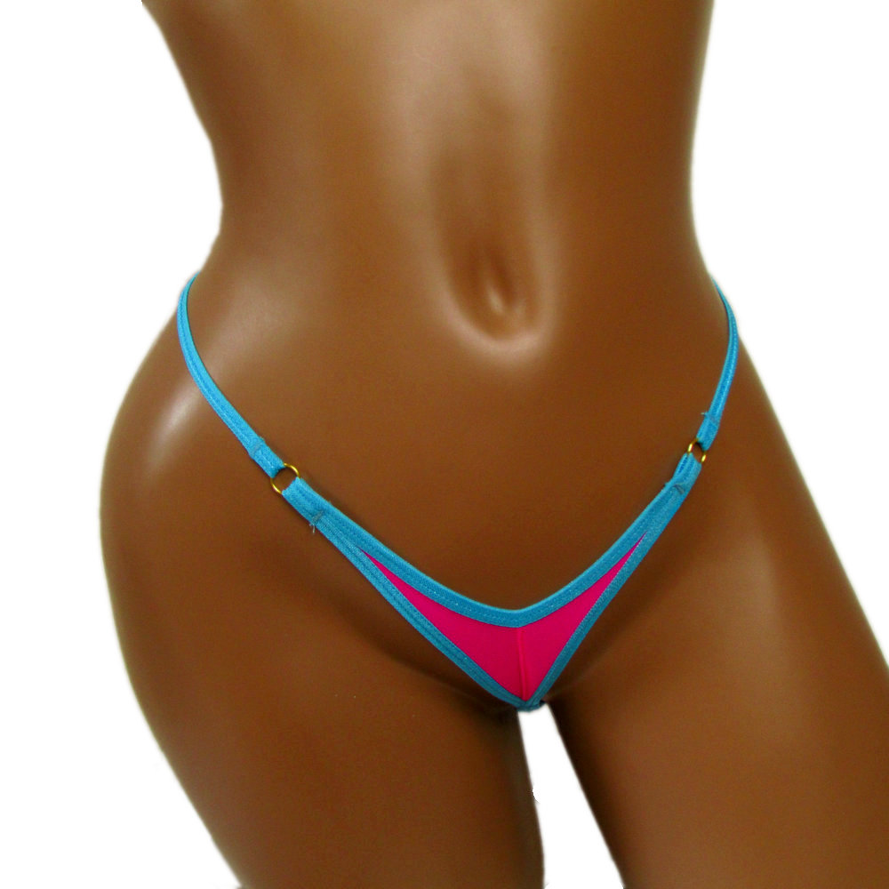 2019 micro Camel Toe thong Contrast color candy ladies string cute girl sexy panties coward erotic homens Underwear knickers
