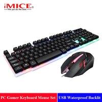 104 Keys Wired Gaming Keyboard Mouse Set USB Waterproof Backlit Keyboard PC Gamer Keyboard Mouse Laptop Teclado Gamer#25