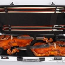 4/4 двойной чехол для скрипки с кодовым замком из углеродного волокна, квадратный чехол Yinfente, два скрипки с четырьмя бантами
