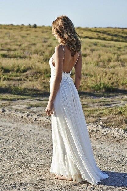 Aliexpress.com : Buy Spaghetti Lace And Chiffon Beach Wedding ...