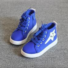 Горячая распродажа 2016 Новый стиль детская обувь для девочек воздухопроницаемой высокого верха обуви холст дети милые звезда шаблон свободного покроя обувь девушки