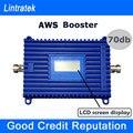 Lintratek Amplificador de Señal Display LCD AWS 1700 Mhz 70db de Alta Ganancia celular de Refuerzo 1700/2100 4G LTE Banda 4 1700 MHz AWS Teléfonos S30