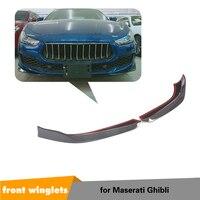 Carbon Fiber For Maserati Ghibli Base Sedan 2018 2019 Front Bumper Lip Splitters