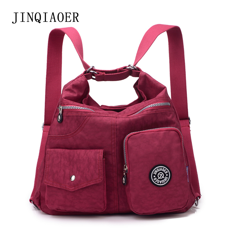 JINQIAOER Women Messenger Bags Double Shoulder Crossbody Bag Handbag Nylon Female 2 in 1 Handbags Lady Sling bolsas sac a main jinqiaoer women messenger bag high quality ladies handbags shoulder bag for women nylon crossbody bags female bolsas sac a main