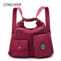 JINQIAOER Women Messenger Bags Double Shoulder Crossbody Bag Handbag Nylon Female 2 in 1 Handbags Lady Sling bolsas sac a main