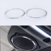 For Jeep Wrangler JK Rubicon TOP Roof Speaker Sound Cover Trim Interior Chrome ABS Sticker Decor Ring Car Styling 2008 2015 2016