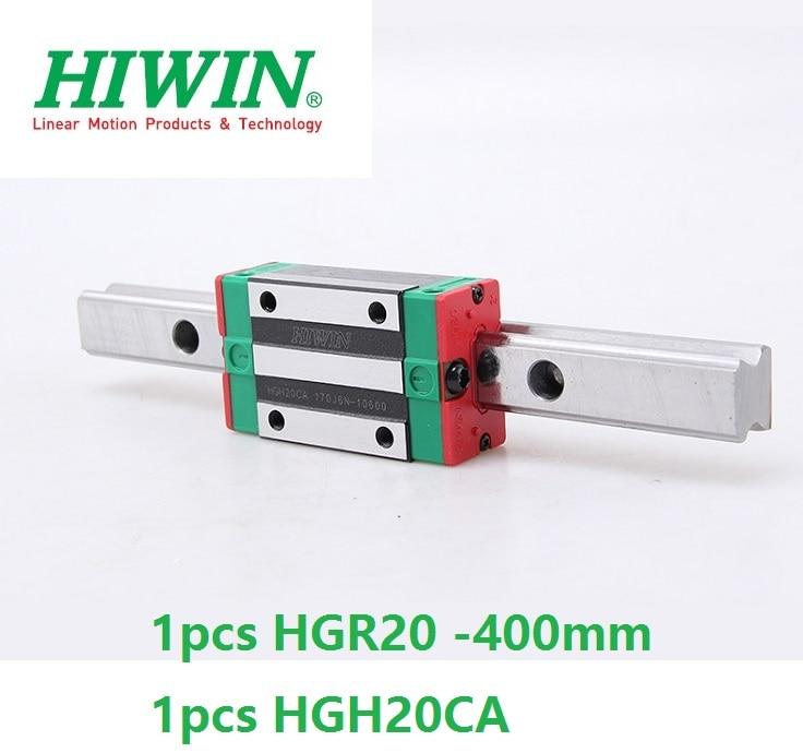 1pcs 100% original Hiwin linear rail guide HGR20 -L 400mm + 1pcs HGH20CA linear narrow block for cnc router original 1pcs ssg45c40