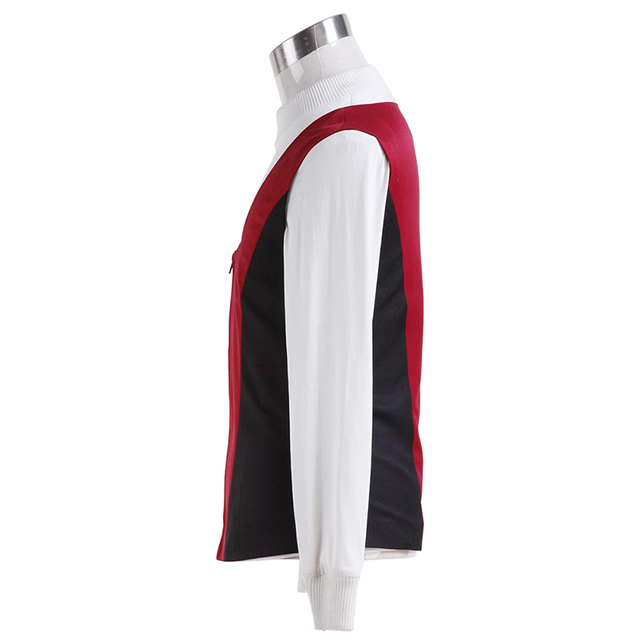 Star Trek Kirk Ribbed Shirt Red Black Vest Cosplay Costumes  2