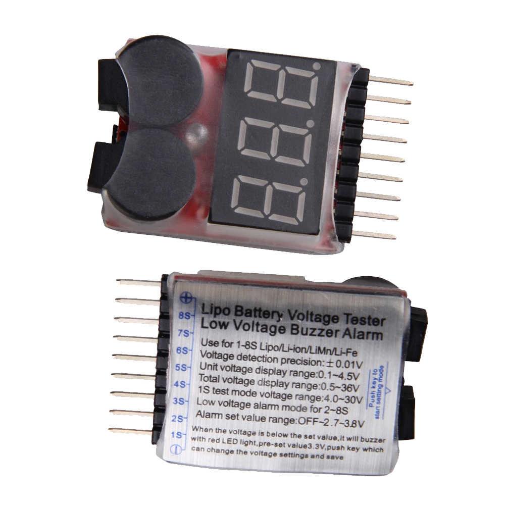 1pcs 1-8S LED Low Voltage digtal Buzzer Alarm Voltage Indicator Checker TeVJUS