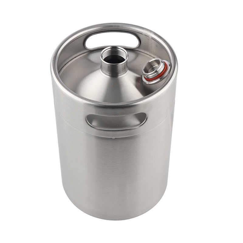Mini Growler, 304 In Acciaio Inox 5L Mini Barilotto di Birra Growler Portatile Bottiglia di Birra per Picnic/Barbecue Birra A Casa Strumento di Produzione di Birra