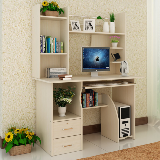 Qiu Yan Simple Desktop Computer Desk With Bookcase Table And Household Composition Tables Minimalist