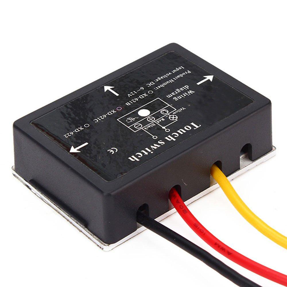 10/20/50/100 pièces XD-622 6-12 V DC 36 W continu gradation tactile interrupteur pour lampes LED etc.