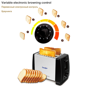 Image 3 - 2 Slices Stainless steel toaster Automatic Fast heating bread toaster Household Breakfast maker Sonifer
