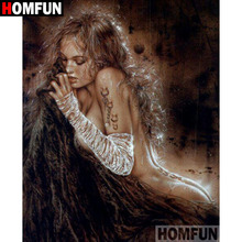 HOMFUN 5D DIY Diamond Painting Full Square/Round Drill Sexy woman Embroidery Cross Stitch gift Home Decor Gift A09439